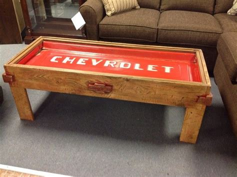 chevy home decor chevrolet tailgate coffee table rustic chevy tailgate table cool custom furniture a interior