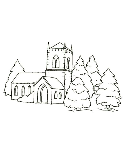 Coloring Pages Of A Church Az Coloring Pages Church Colouring Pages