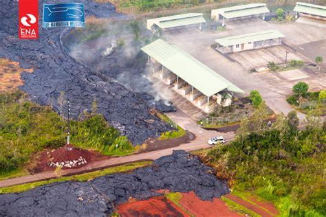 Pahoa Post Office by Morning Lava Update Thursday Nov 13