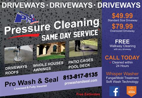 Pro Wash And Seal Best Pressure Washing Power Washing Flyer Templates Free