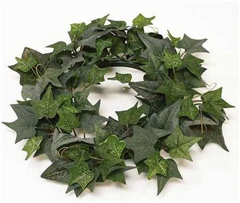Wholesale Western Home Decor by Artificial Silk Ivy Candle Ring Artificial Greenery