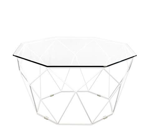 table basse metal blanc table basse de jardin g 233 om 233 trique m 233 tal filaire blanc 169