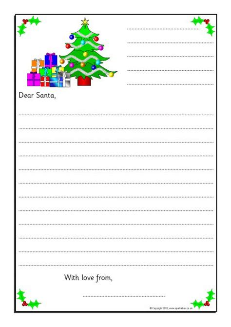 letter to santa template ks2 letters to santa writing frames sb9017 sparklebox
