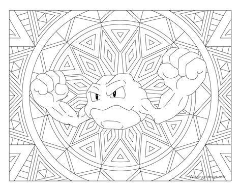 pokemon coloring pages geodude 074 geodude pokemon coloring page 183 windingpathsart com