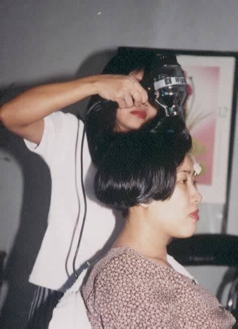 1990s short wedge haircut 1990 s wedge cut hairstyle this haircut was in style in