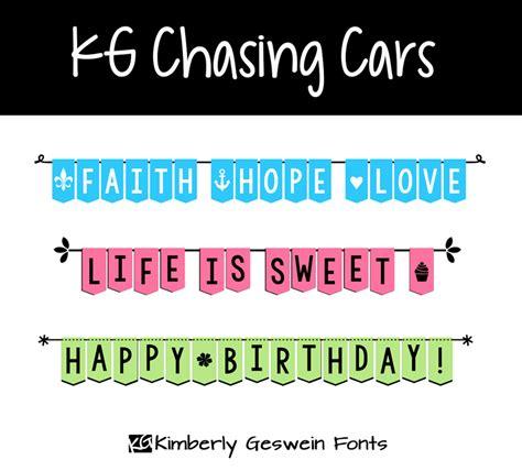 dafont banner kg chasing cars font dafont com
