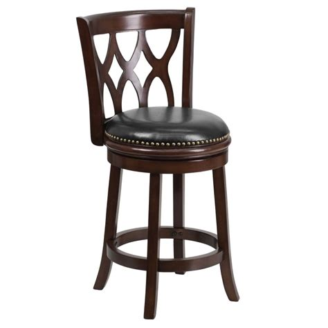 counter height leather bar stools mfo 24 cappuccino wood counter height stool with black