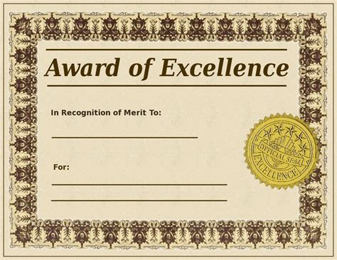 free templates for awards blank award certificate templates search terms awards