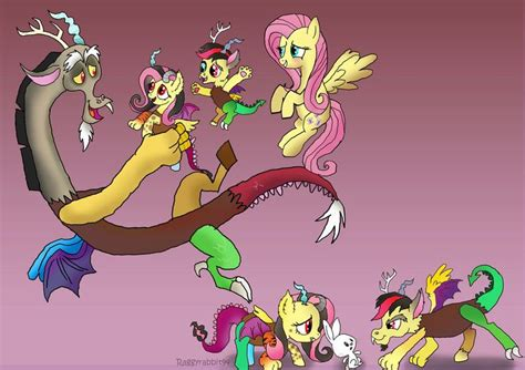 discord and fluttershy s family the oldest is on the