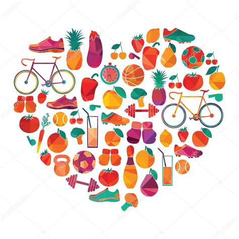 imagenes de corazones saludables fondo de estilo de vida saludable vector de stock