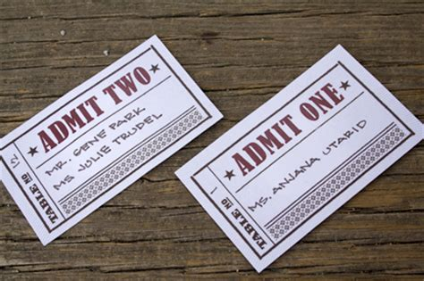 Gift Card For Movie Tickets - danielle greg s vintage cinema inspired wedding invitations
