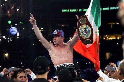 Kaos Canelo Alvarez With Flag Boxing canelo alvarez wbo chion reveals gennady golovkin offer after beating liam smith