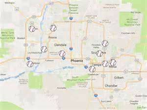 map of ballparks in arizona 2017 cactus league valley stadium map