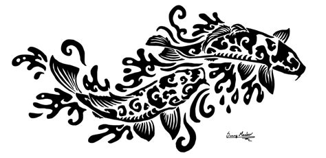 tribal koi tattoo koi tribal by sunima on deviantart