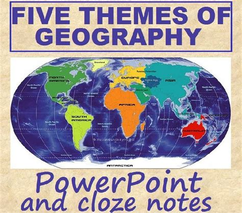 5 themes of geography lesson five themes of geography geography social studies and