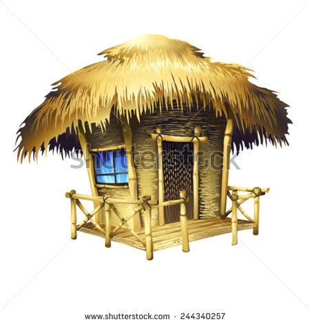 Tiki Hut Drawing Hut Stock Photos Images Pictures