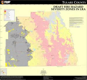 cal tulare county fhsz map