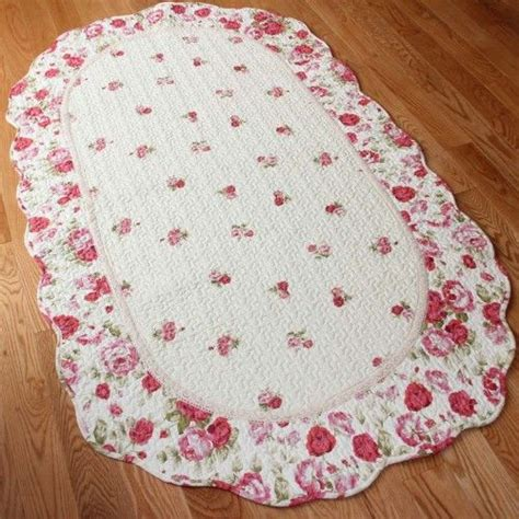 Rosy Chic Rug by Quilt Mat Rugs Roses And Shabby Chic Rug