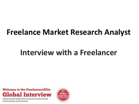 freelance market research analyst