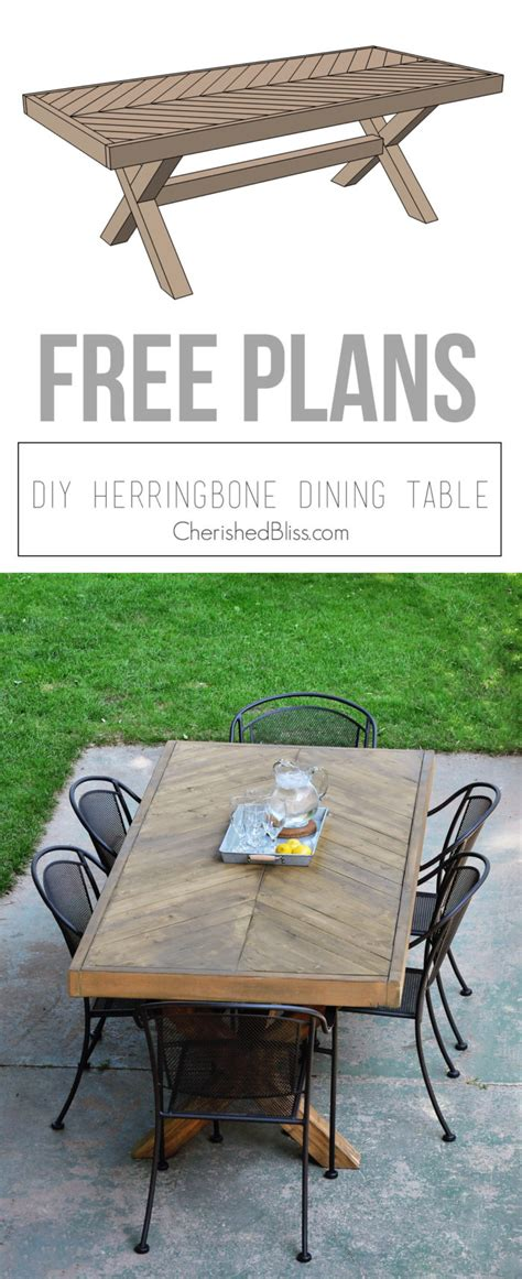 Patio Table Diy Diy Outdoor Table Free Plans Cherished Bliss