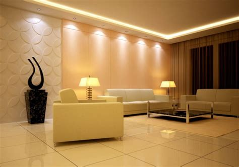 lighting design for simple living room interior design