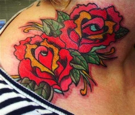 ruby rose tattoos neck 43 outstanding roses neck tattoos