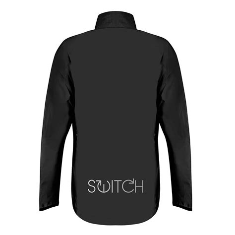 black cycling jacket switch s cycling jacket black reflective reversible