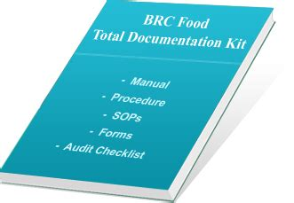 food documentation kit for brc issue 7 certification
