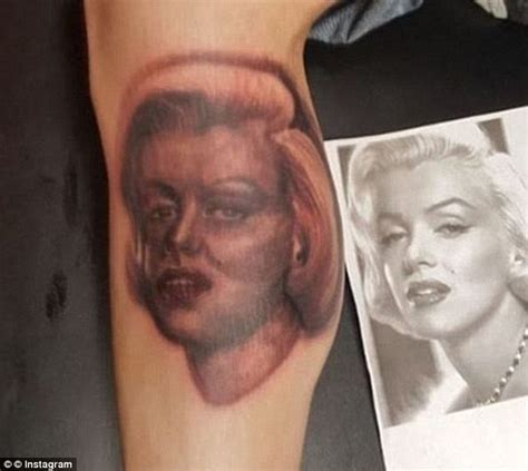 tattoo nightmares marilyn monroe fans whose celebrity tattoos go very wrong daily mail online