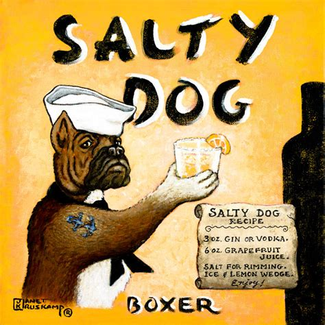 salty dogs salty one of janet krusk s original paintings and personally enhanced and