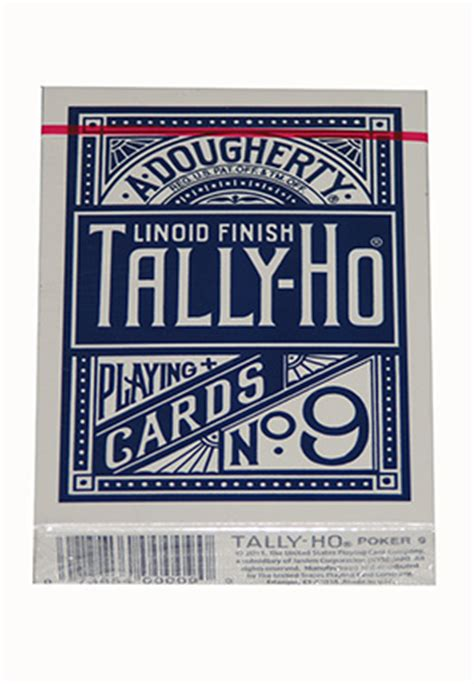 Sale Tally Ho Liniod Finish No 9 Black Card Import America tally ho fan back blue ellusionist cards gamblers general store