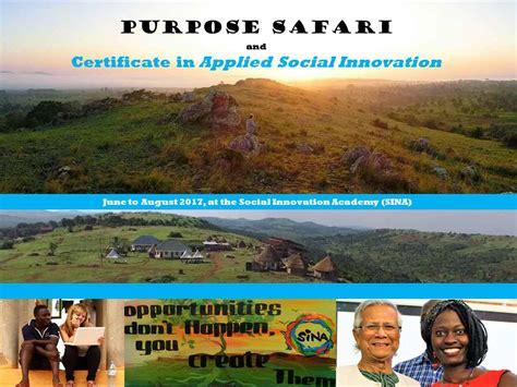 How Can Social Enterprises Generate Purpose Safari And Certificate In Applied Social Innovation Patenschaft In Uganda
