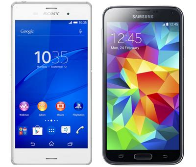 Hp Samsung Galaxy Z3 perbandingan samsung galaxy s5 vs sony xperia z3