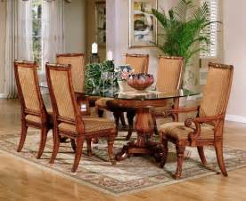 Dining Room Funiture Bonaparte Glass Pedestal Dining Room Furniture Set Fairmont Designs
