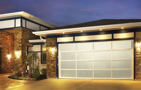 Modern Glass Garage Doors by Glass Garage Doors Exterior Landscaping