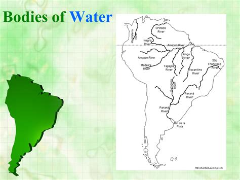 bodies of water list south america the continent presentation geography