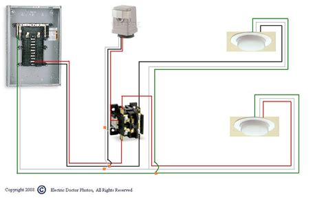lighting contactor wiring diagram with photocell iron