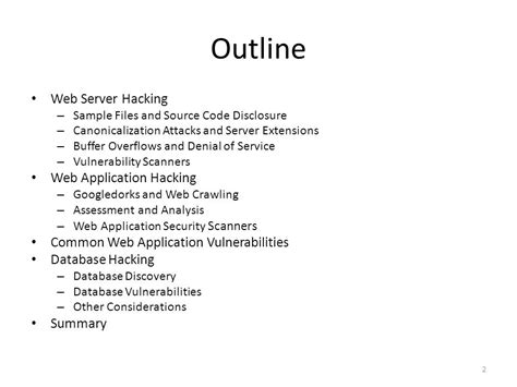 Outline Web Solutions by Hacking Exposed 7 Network Security Secrets Solutions Ppt