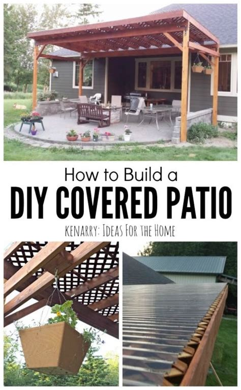 How To Build A In Your Backyard by Best 25 Diy Patio Ideas On Backyard Patio