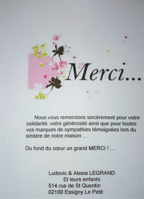 Lettre De Remerciement Noel Lesdins Infos Remerciements De La Famille Sinistr 233 E D Essigny Le Petit