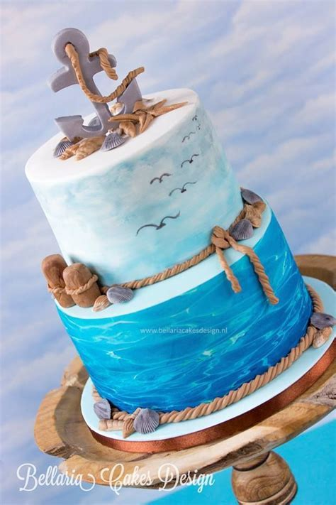 Best 25  Beach theme cakes ideas on Pinterest   Beach