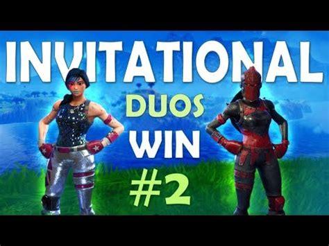 fortnite invitational duo invitational win 2 ft camills fortnite battle