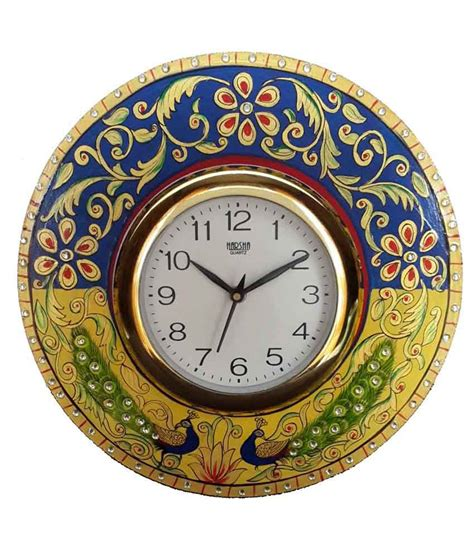 Handcrafted Clocks - divinecrafts handcrafted wall clock buy divinecrafts