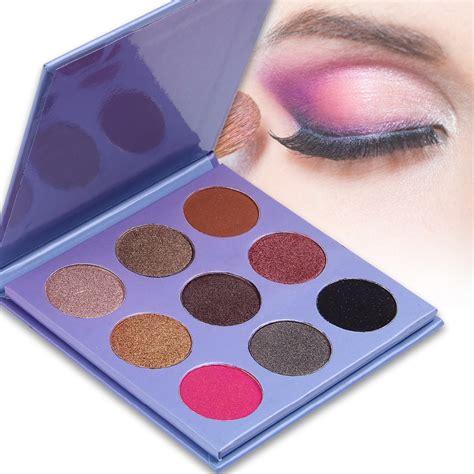 Eyeshadow Wardah Shimmer de lanci 9 color matte shimmer pigment eyeshadow palette professional cosmetic makeup