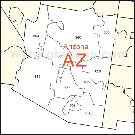 arizona zip code map usa zip code and state maps editable maps of america