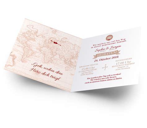 Hochzeitseinladung Reisen by Hochzeitseinladung Gl 252 Cksfall