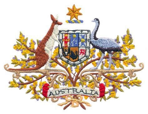 australian coat of arms tattoo designs stitchitize embroidery design australian coat of arms 3