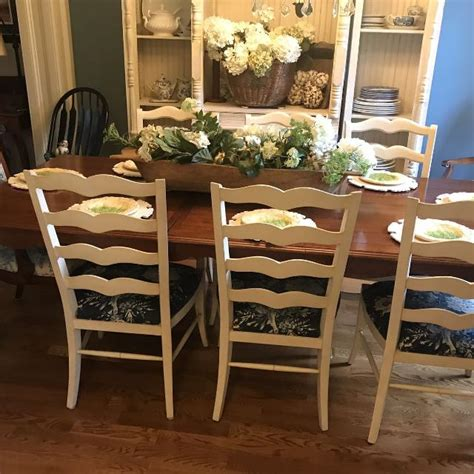 find  gorgeous french country wood dining room set