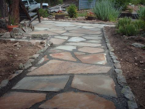 Patio Flagstone Designs Flagstone Patio Kittredge Co By Mountaineer Landscaping And Painting Llc Traditional