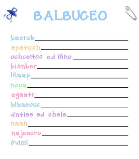 Juegos De Baby Shower by Juegos Para Baby Shower Balbuceo Juegos Fiestas Y
